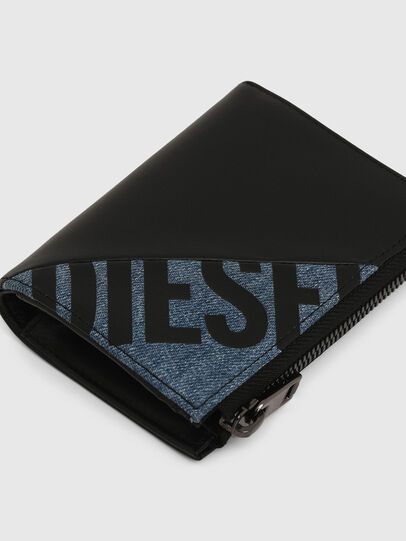 Diesel - L-12 ZIP, Black/Blue - Small Wallets - Image 4