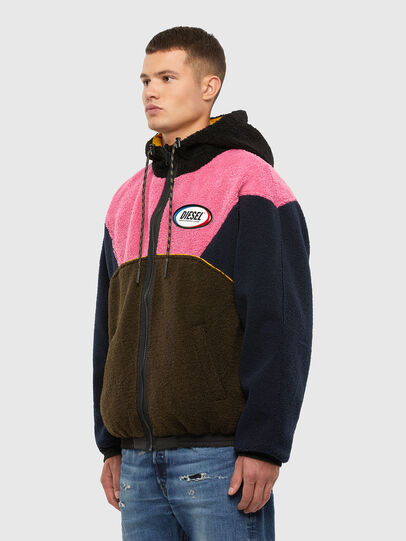 Diesel - W-ETHAN, Blue/Pink - Winter Jackets - Image 4