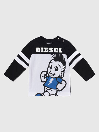 Diesel - TILLYB, Black/White - T-shirts and Tops - Image 1