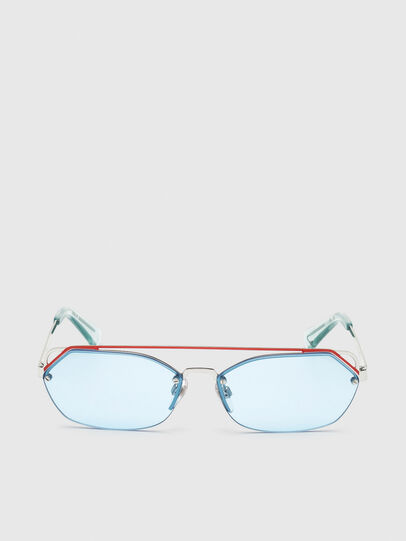 Diesel - DL0313, White/Red - Sunglasses - Image 1