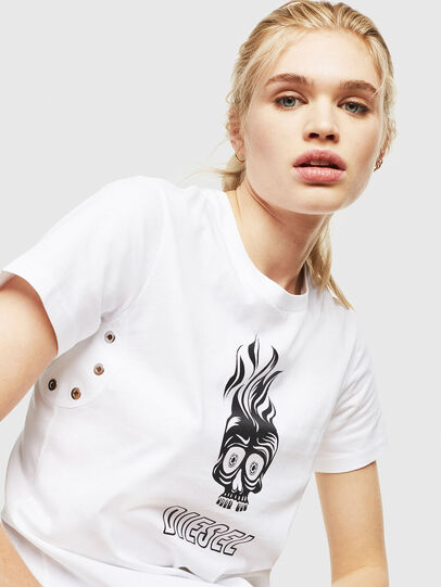 Diesel - T-SILY-WQ, White - T-Shirts - Image 3