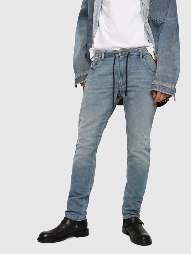 Diesel - Krooley JoggJeans 086AY, Light Blue - Jeans - Image 1