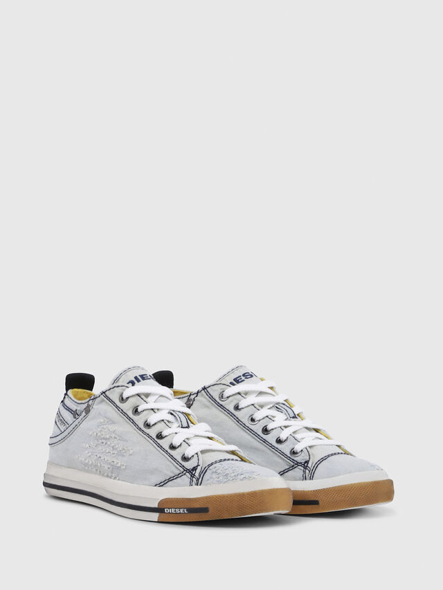 Diesel - EXPOSURE IV LOW  W, Light Blue - Sneakers - Image 2
