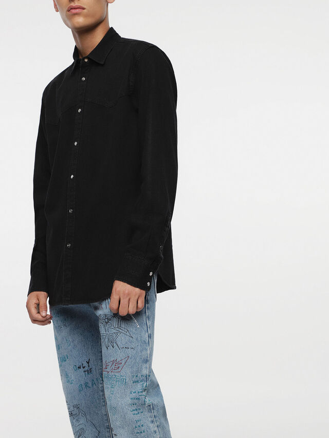 Diesel - D-PLANET, Black Jeans - Denim Shirts - Image 4
