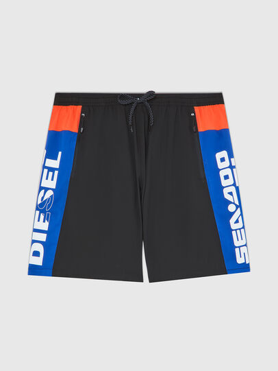 Diesel - BMBX-TUNADOO, Black/Blue - Swim shorts - Image 1