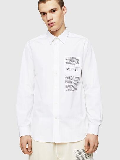 Diesel - S-VEN-PRINT, White - Shirts - Image 3