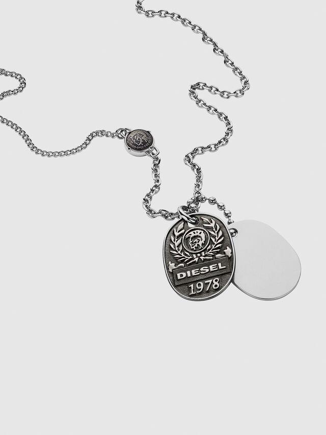 Diesel - DX1106, Silver - Necklaces - Image 2
