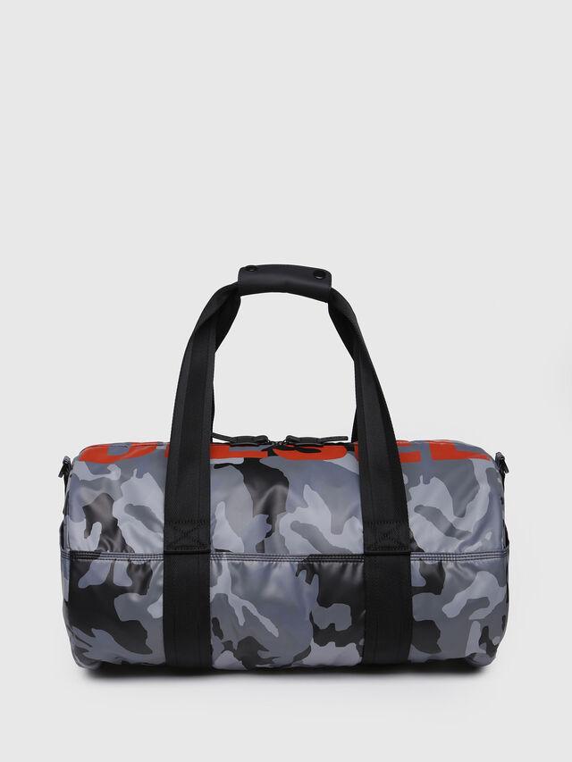 Diesel - F-BOLD DUFFLE, Grey Melange - Travel Bags - Image 1