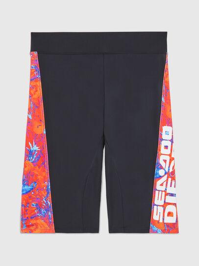 Diesel - BFPN-CYCLERDOO, Black/Orange - Swim shorts - Image 1