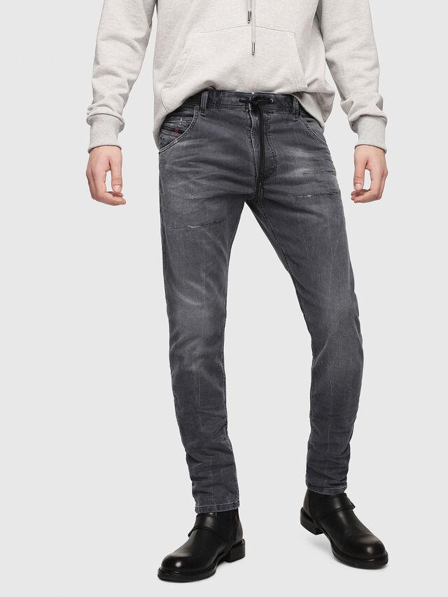 62e7f767 Diesel - Krooley JoggJeans 069EP, Black/Dark grey - Jeans - Image 1