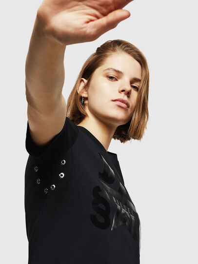 Diesel - T-SILY-WMA, Black - T-Shirts - Image 3