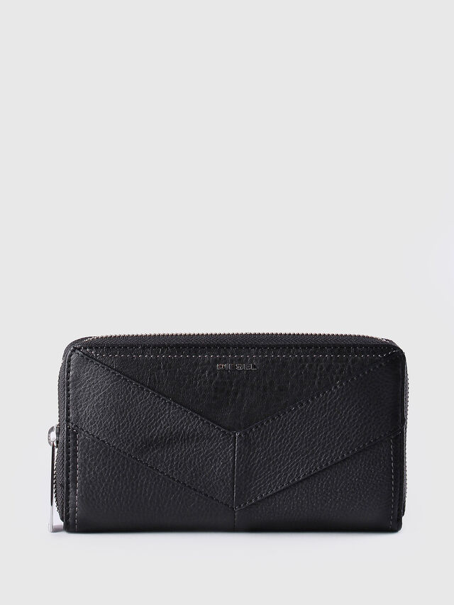 Diesel GRANATO, Black Leather - Zip-Round Wallets - Image 1