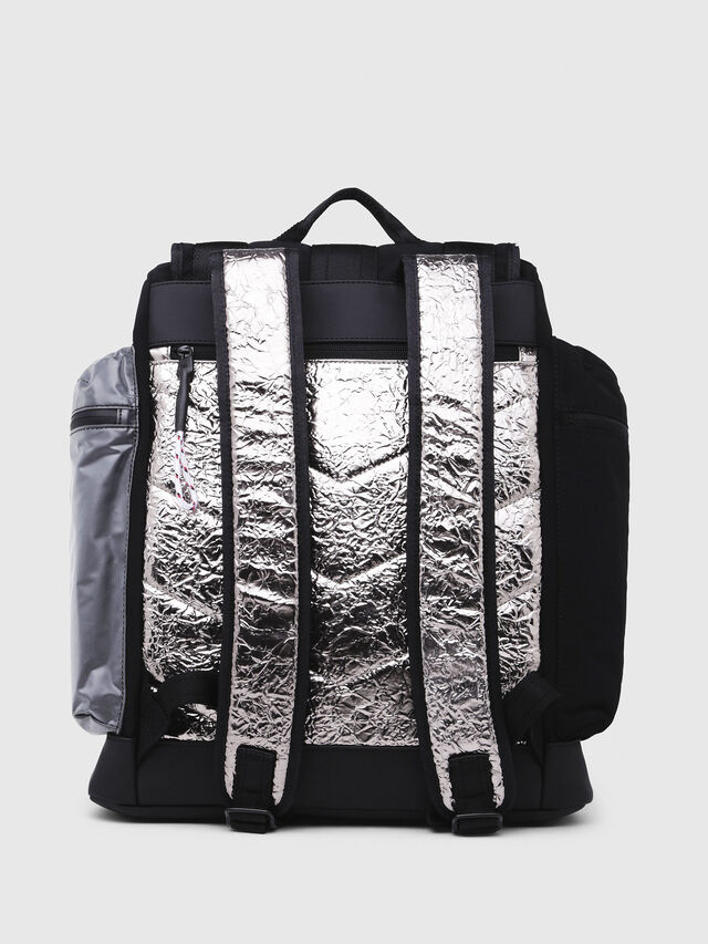 Diesel - M-CAGE BACK, Black/Silver - Backpacks - Image 2