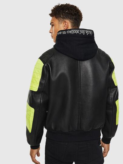 Diesel - L-BRANDO, Black - Leather jackets - Image 2