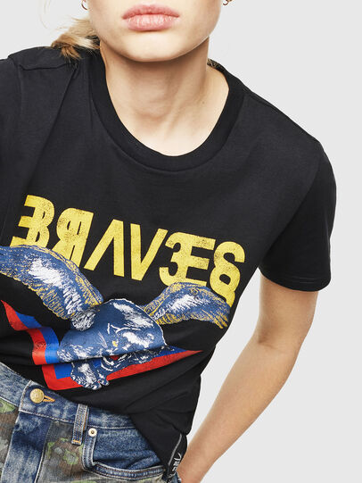 Diesel - T-SILY-WP, Black - T-Shirts - Image 3