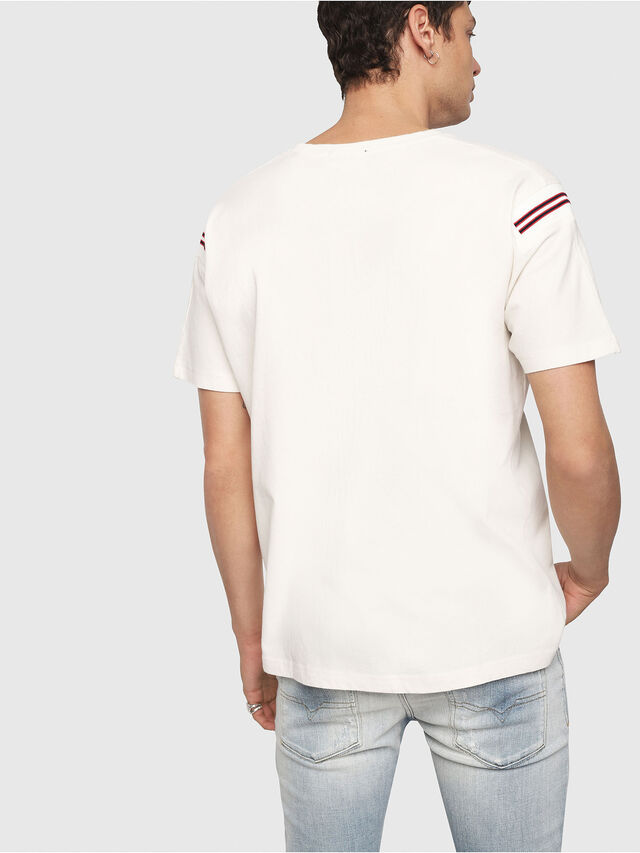 439c02f8f T-TRYLL Men: T-Shirt with logo and striped inserts | Diesel