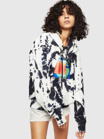 Diesel - F-ALBYHOOK-E, White/Black - Sweaters - Image 1