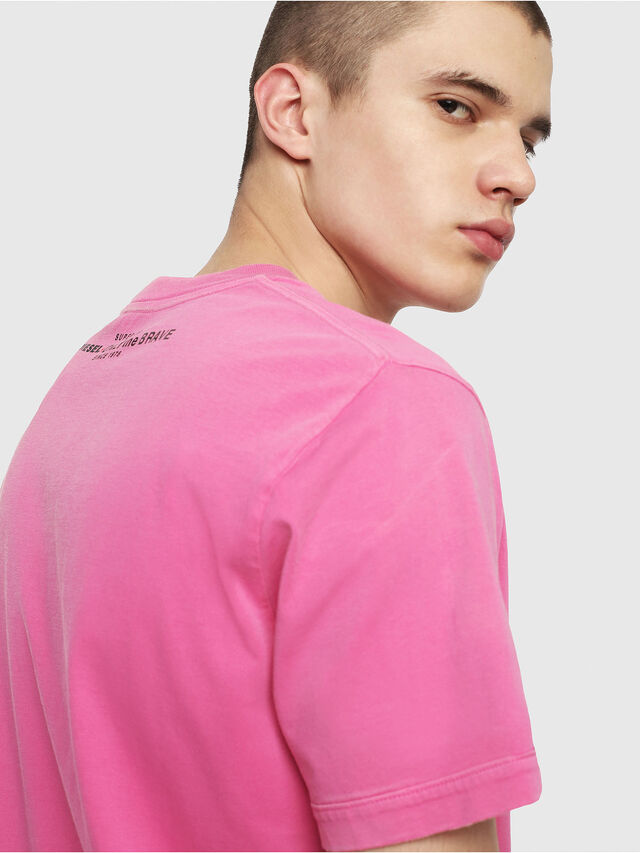 Diesel - T-SHIN, Hot pink - T-Shirts - Image 3