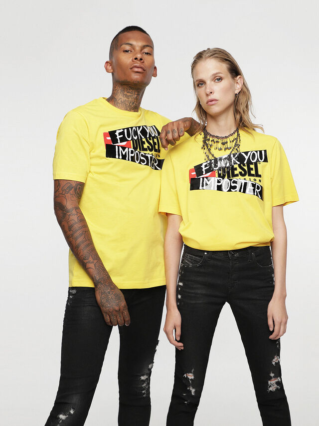 Diesel - HC-T-JUST-DIVISION-B, Yellow - T-Shirts - Image 2