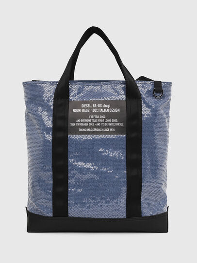 Diesel - F-THISBAG SHOWAY, Blue/Black - Shopping and Shoulder Bags - Image 1