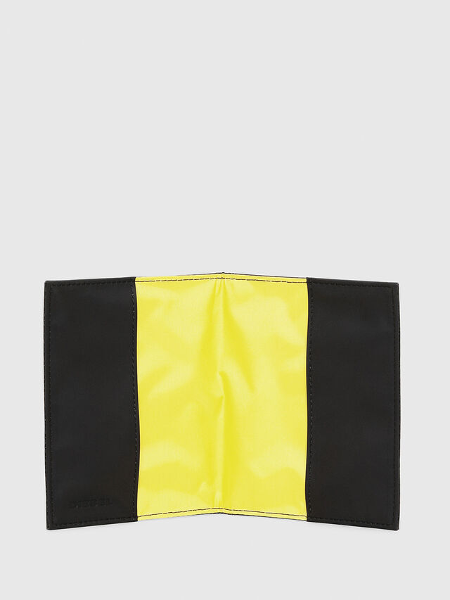 Diesel - PASSPORT, Black/Yellow - Continental Wallets - Image 3