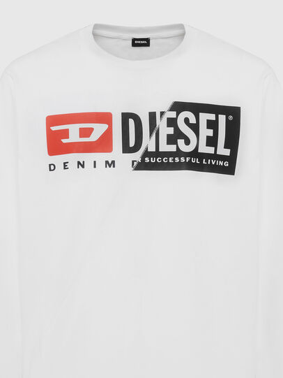 Diesel - T-DIEGO-LS-CUTY, White - T-Shirts - Image 3
