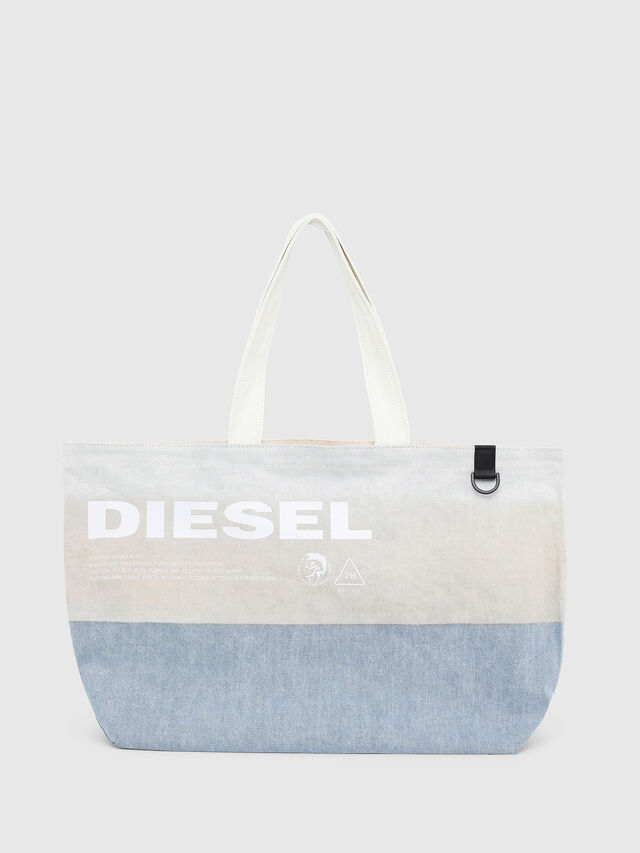 Diesel - D-THISBAG SHOPPER L, White/Blue - Shopping and Shoulder Bags - Image 1