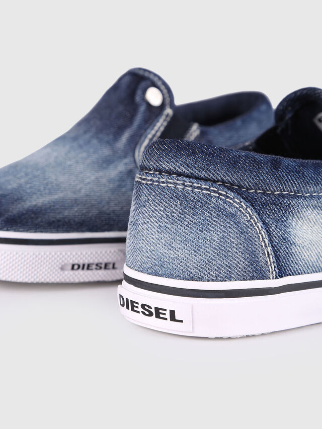 Diesel - SLIP ON 21 DENIM YO, Blue Jeans - Footwear - Image 5