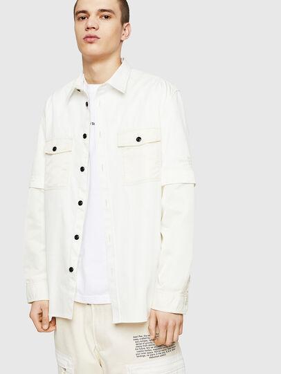 Diesel - S-KOSOV, White - Shirts - Image 1