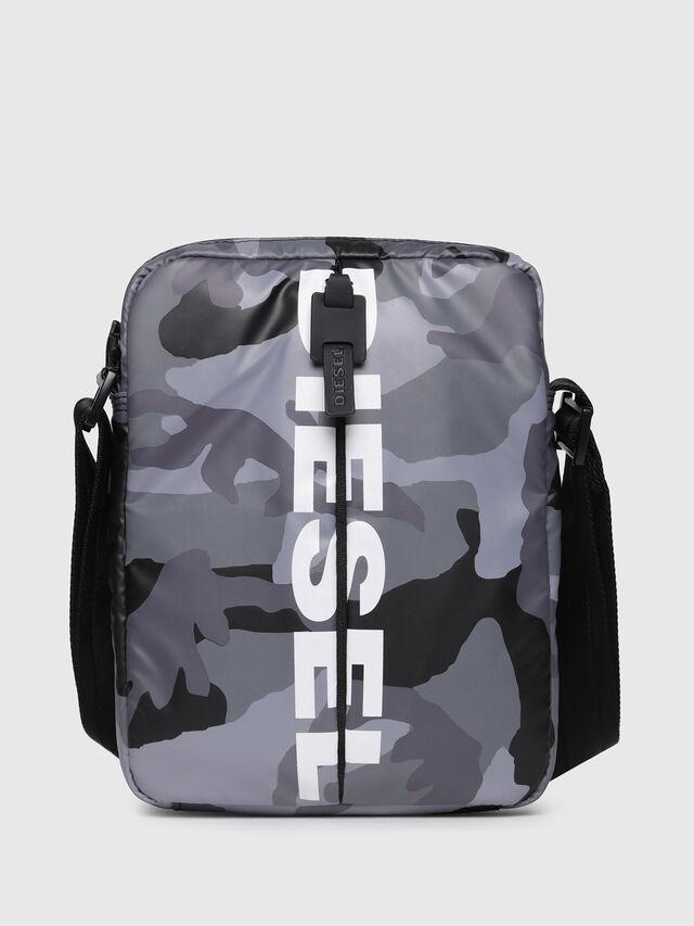 Diesel - F-BOLD SMALL CROSS, Grey - Crossbody Bags - Image 1