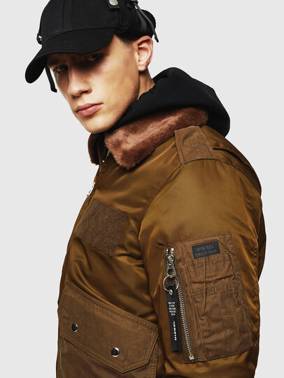 Diesel - W-SLOTKIN-A, Green/Brown - Winter Jackets - Image 5