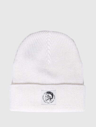 Diesel - K-CODER, White - Knit caps - Image 1
