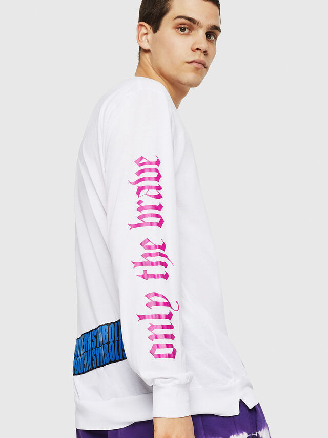 Diesel - T-JUST-LS-RIB, White - T-Shirts - Image 2