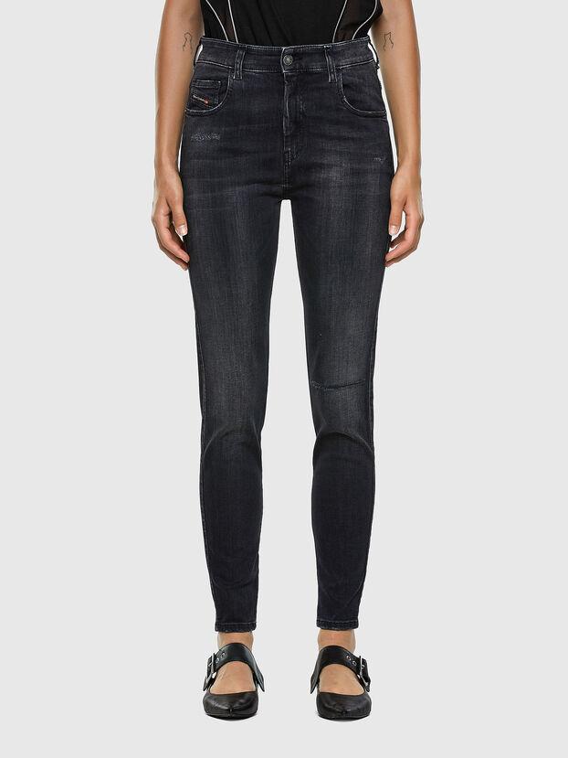 Slandy High 069RL, Black/Dark grey - Jeans