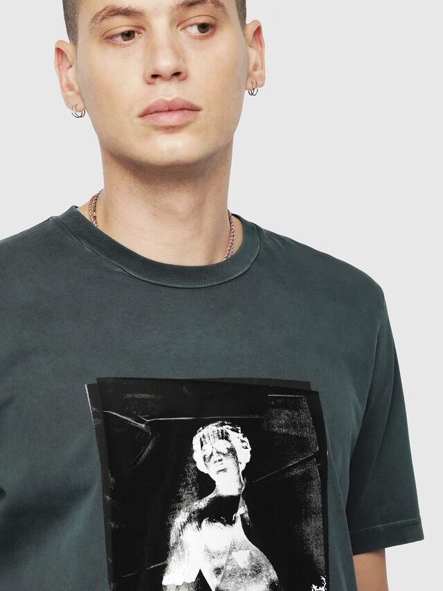 Diesel - T-JUST-YS, Dark Green - T-Shirts - Image 3