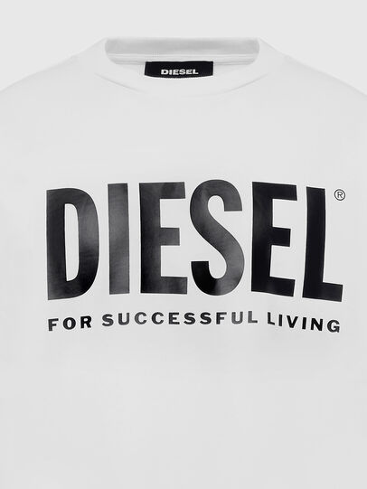 Diesel - S-GIR-DIVISION-LOGO, White - Sweaters - Image 3
