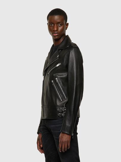 Diesel - L-GARRETT-A, Black - Leather jackets - Image 7