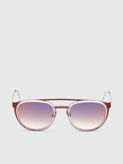 Diesel - DL0293, Red/White - Sunglasses - Image 1