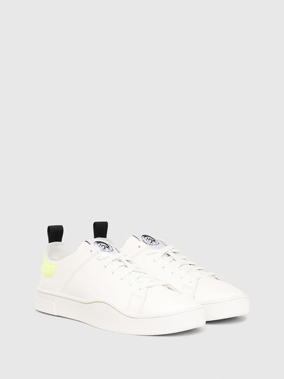 Diesel - S-CLEVER LS, White/Yellow - Sneakers - Image 2
