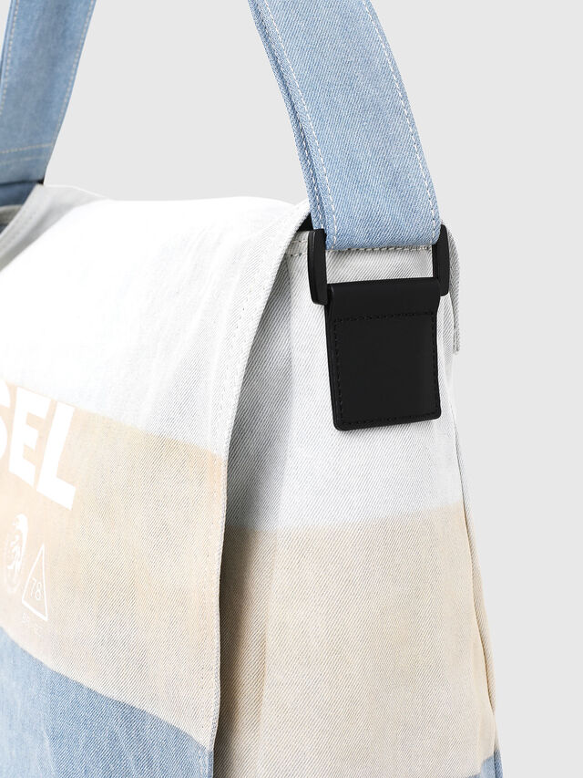 Diesel - D-THISBAG MESSENGER, Blue/White - Crossbody Bags - Image 3