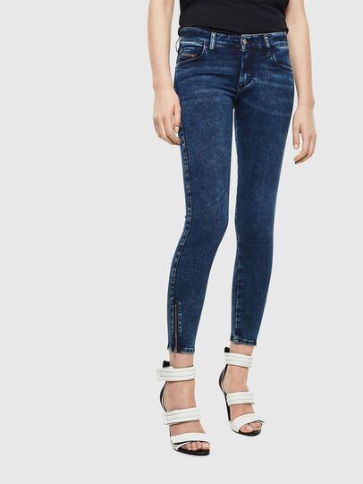 Diesel - Slandy Low 0094Z, Dark Blue - Jeans - Image 1
