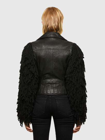 Diesel - L-ELIZABETH, Black - Leather jackets - Image 2