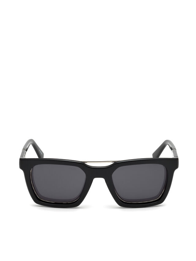 Diesel - DL0250, Bright Black - Sunglasses - Image 1