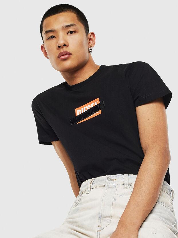 T-DIEGO-S7, Black/Orange - T-Shirts