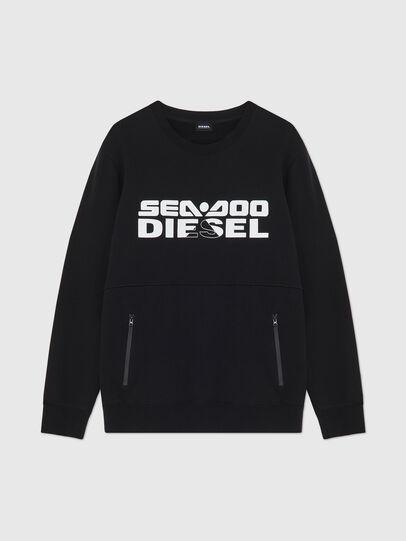 Diesel - BMOWT-ROUNDOO, Black/Orange - Out of water - Image 1