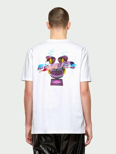 Diesel - T-JUBIND-SLITS-E1, White - T-Shirts - Image 2