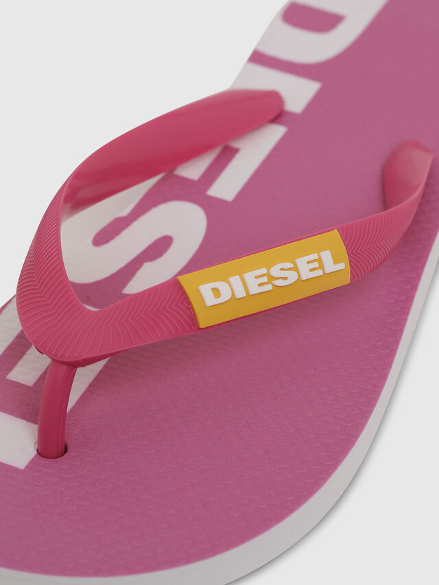 Diesel - SA-BRIIAN W, Pink/White - Slippers - Image 3