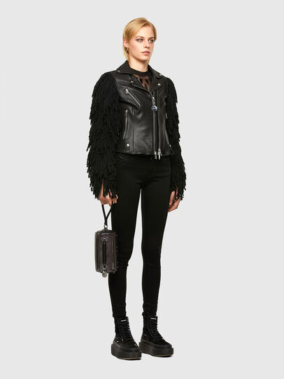 Diesel - L-ELIZABETH, Black - Leather jackets - Image 6