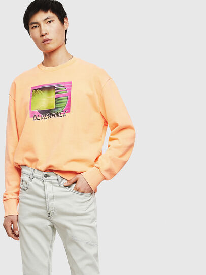 Diesel - S-BIAY-FLUO, Orange - Sweaters - Image 8