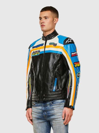 Diesel - ASTARS-LPATCH-1A-B, Black - Leather jackets - Image 8